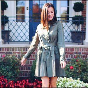 kate spade Dresses - Army green Kate Spade dress